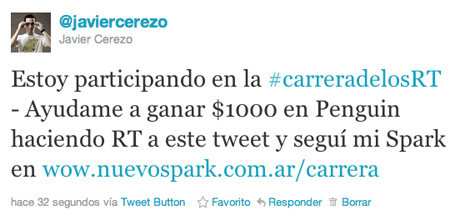 Carrera de los ReTweets