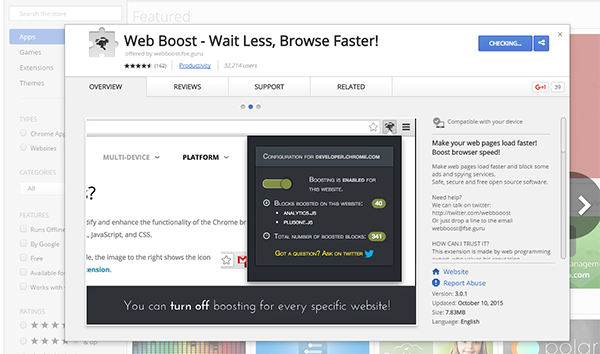 Web Boost: a new addition to increasing the speed of the Internet and browse to your browser ...