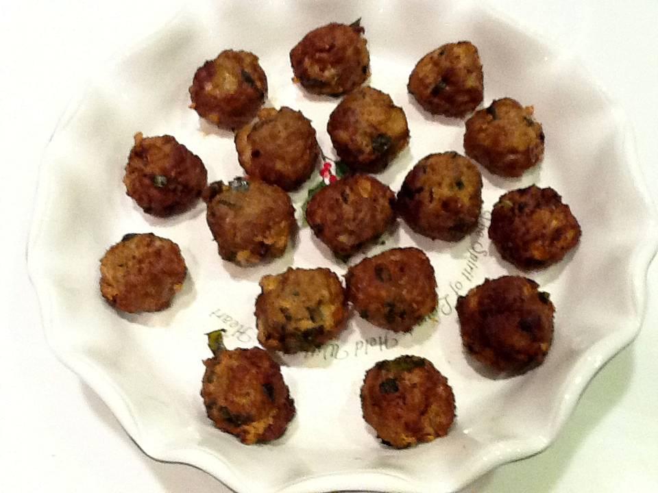 Spicy Meatballs (Kola Urundai)