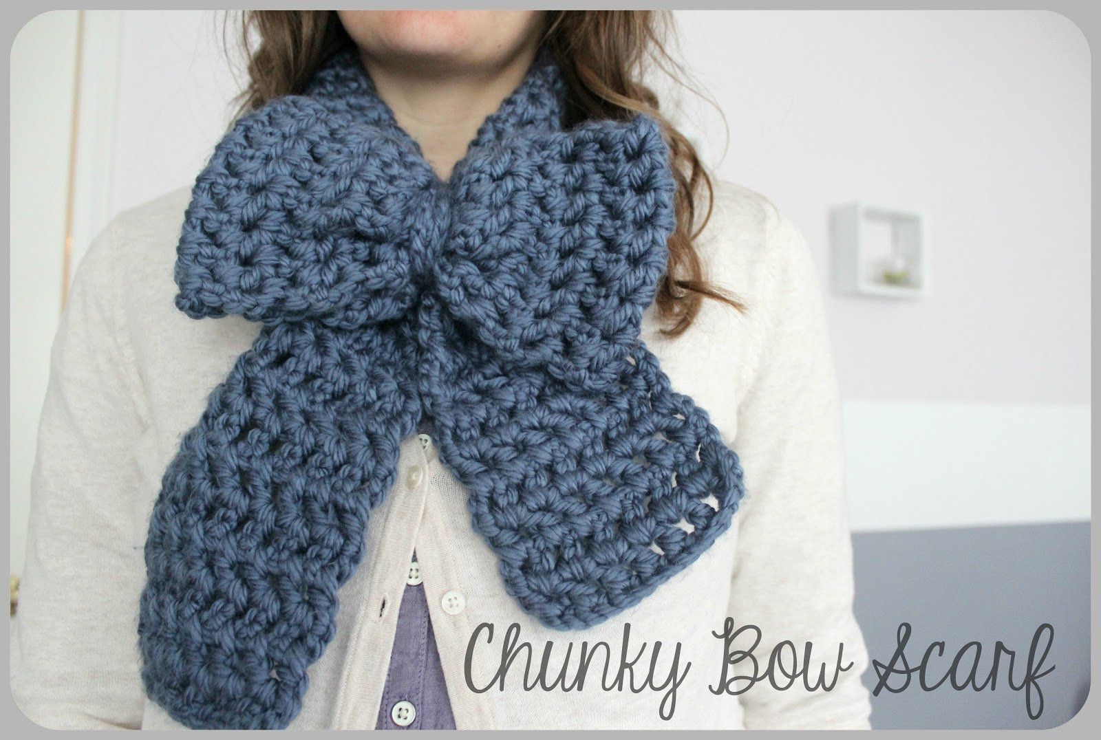 Free Crochet Pattern For Chunky Scarf : Love City: Crochet Love { Chunky Bow Scarf }