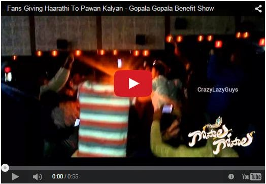 Fans Giving Haarathi To Pawan Kalyan