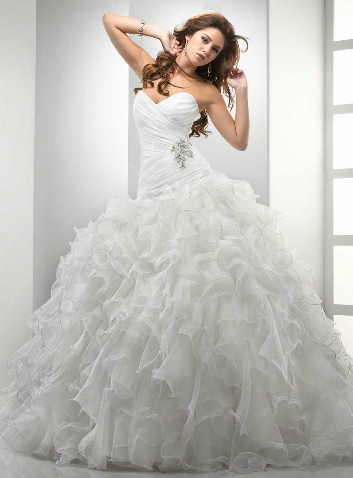 Sweetheart Neckline Ball Gown Wedding Dresses Photos HD Concepts Ideas