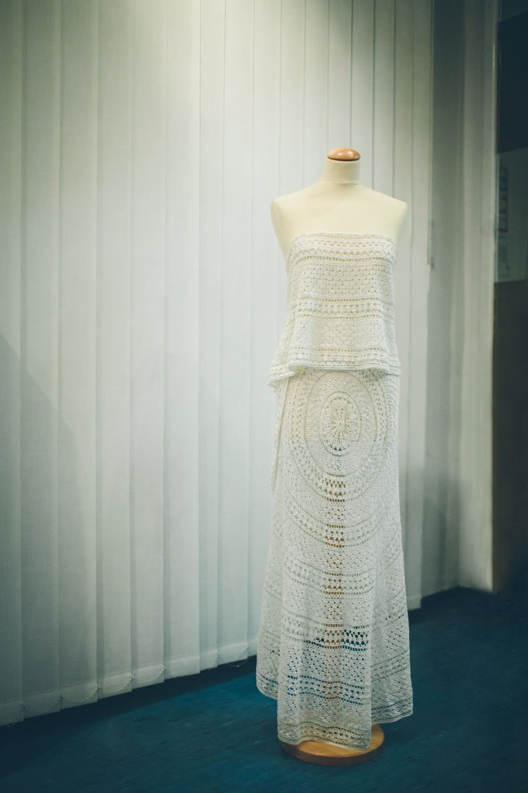 Handmade Wedding Dress - crochet