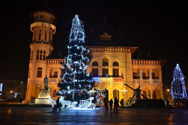 Piata Dacia Buzau - iarna