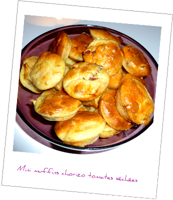 image Minis muffins chorizo tomates séchées