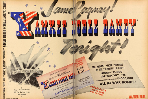 New York premiere ad Yankee Doodle Dandy nearly sold out 1942 James Cagney