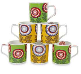 Buy ETHNIC FLORAL 6 PIECE CUP SET at Flat 60% off at Rs. 320 : buy To Earn