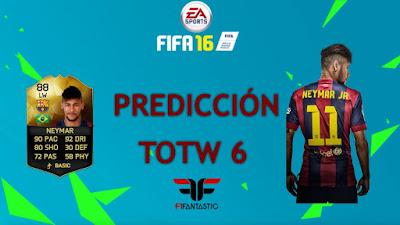 Predicción TOTW 6 FIFA 16 Ultimate Team, predicción Equipo de la Semana 6 FUT 16