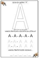 caligrafia da letra a