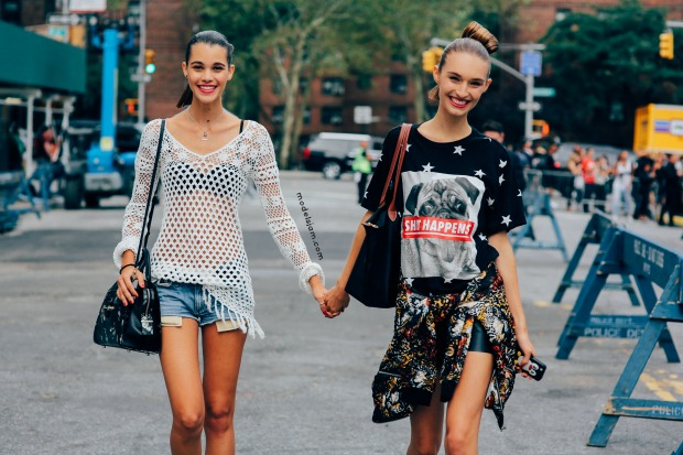 Pauline Hoarau and Manuela Frey in New York.