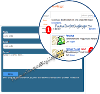 Cara Memasang Formulir Kontak di Halaman Blog