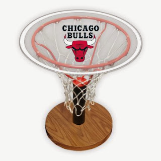 Chicago Bulls NBA Basketball Hoop Table