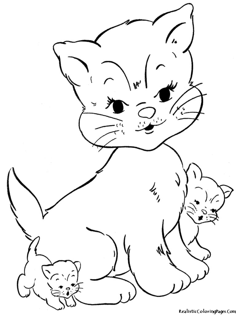 kitty cat coloring page - realistic coloring pages of cats realistic coloring pages
