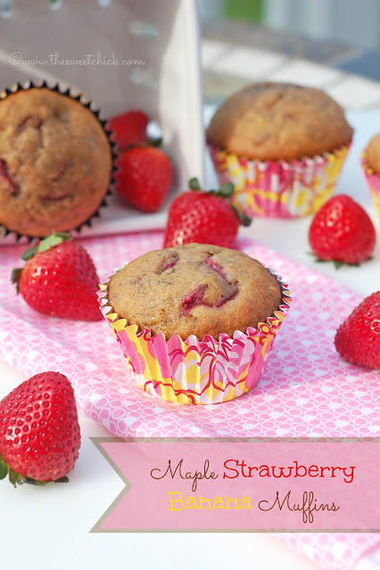 #maple #strawberry #banana #muffins #snack #breakfast #dessert