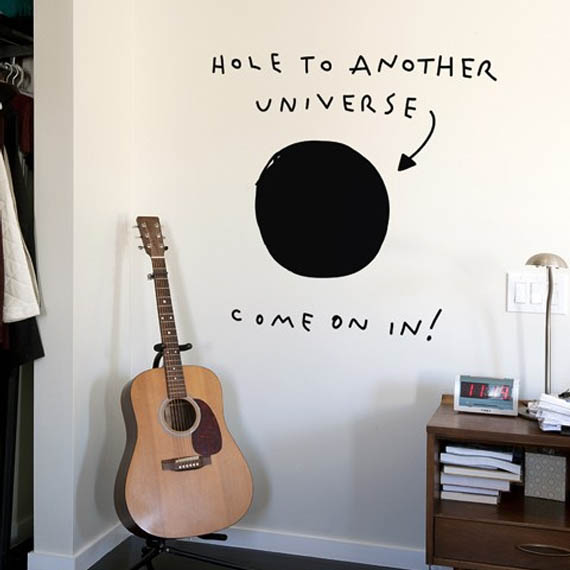 &quot;Hole to Another Universe&quot; Decal