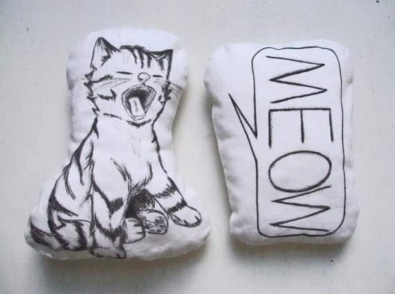 Cat pillows by MosMea