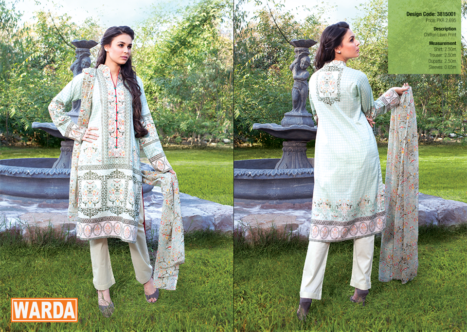 Warda Designer Spring Lawn Collection 2015