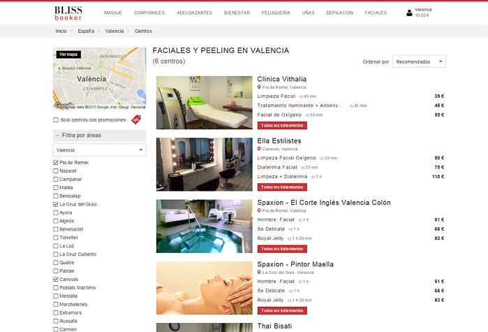 Comprar tratamientos belleza por internet facil y con descuentos Valencia Madrid Barcelona Sevilla Bilbao Alicante