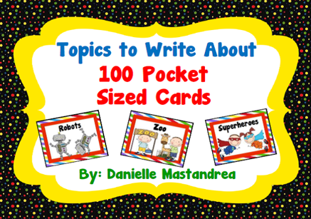 https://www.teacherspayteachers.com/Product/Topics-to-Write-About-100-Pocket-Sized-Cards-280328