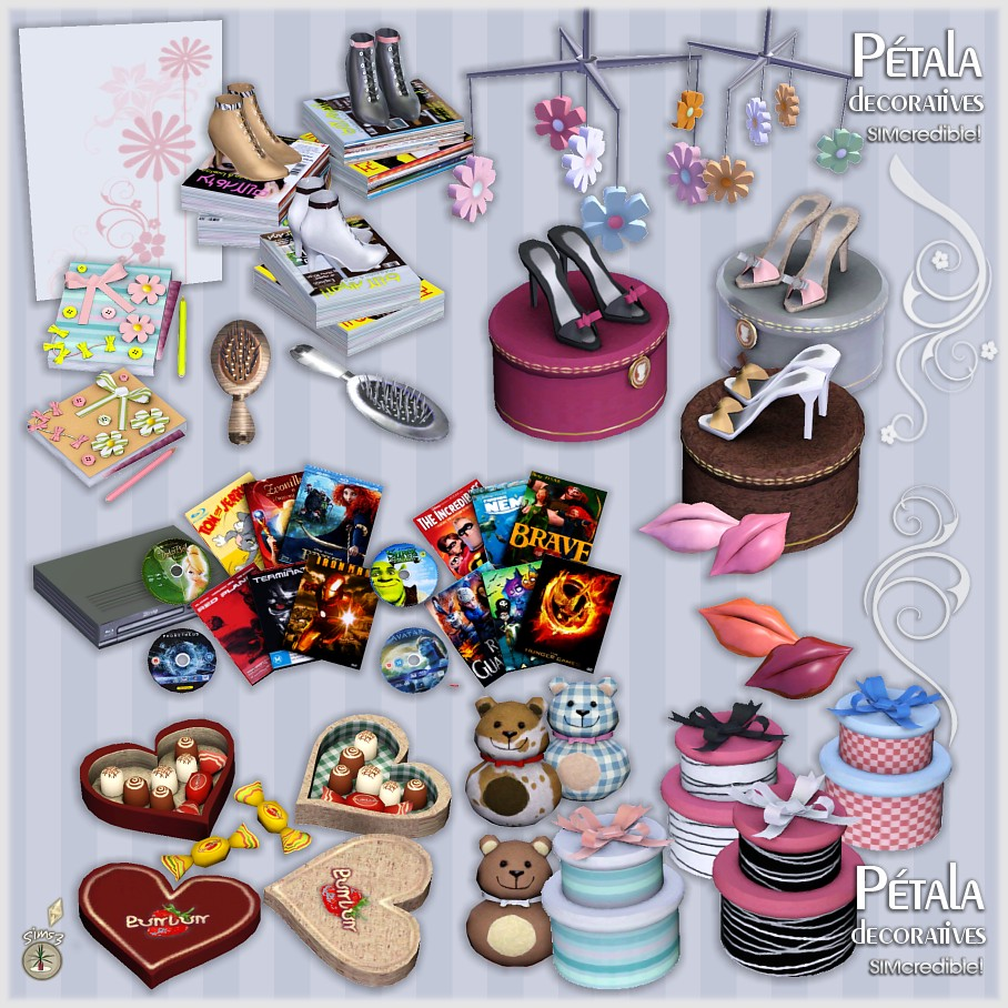 Empire sims 3 petala bedroom and decor by simcredible designs for Decoration stuff