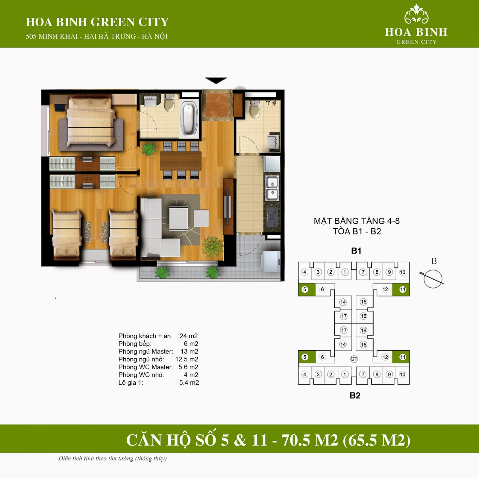Hòa Bình Green City B 70,5m2