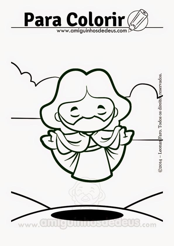 Ascensão do Senhor desenho para colorir