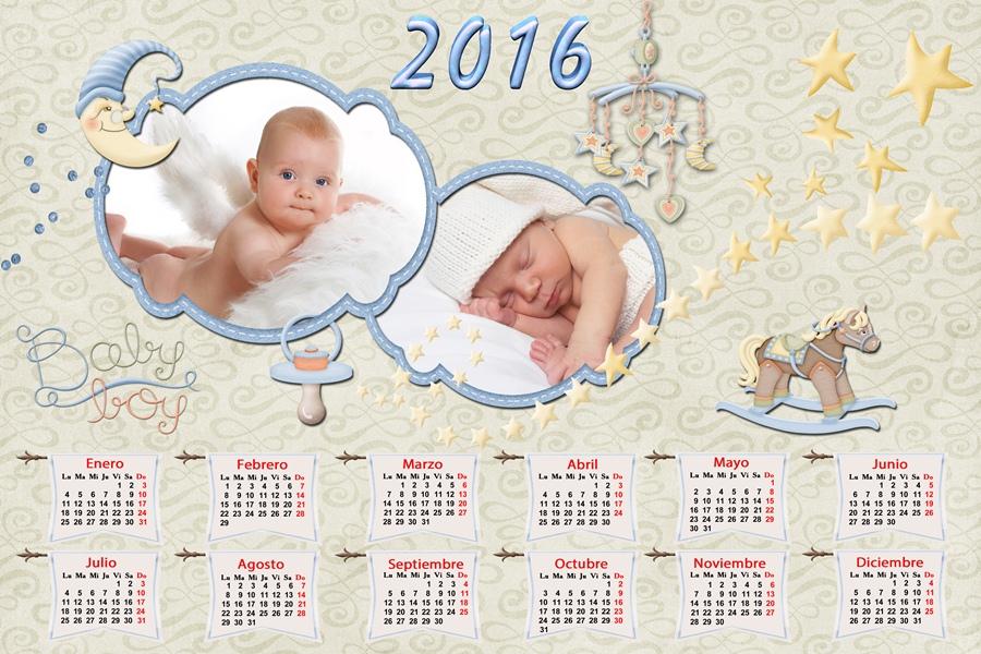 recursos photoshop llanpac calendario del 2016 de bebés para