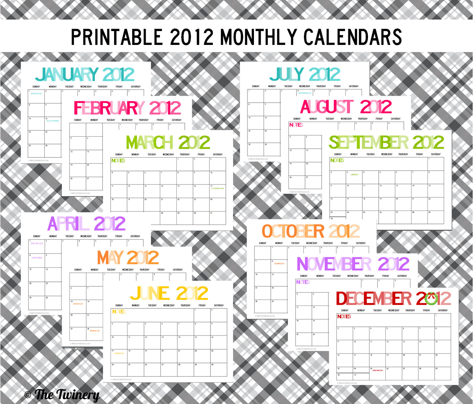 YOU CAN DOWNLOAD THE FULL 2012 CALENDAR BELOW —