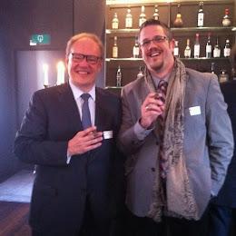 6 février 2015: avec Hans-Kristian Hoejsgaard (CEO Oettinger Davidoff)