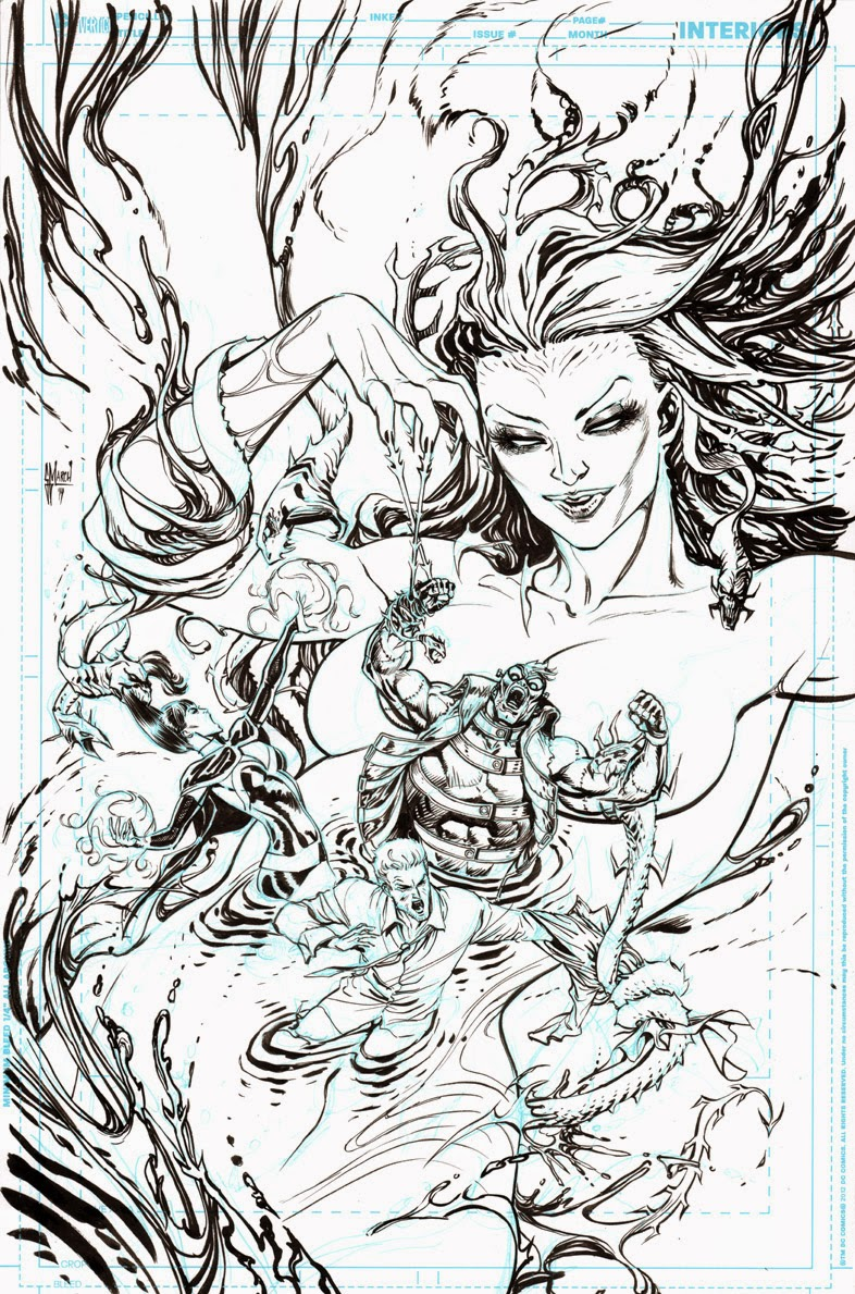 JUSTICE LEAGUE DARK 39 cover process by Guillem March