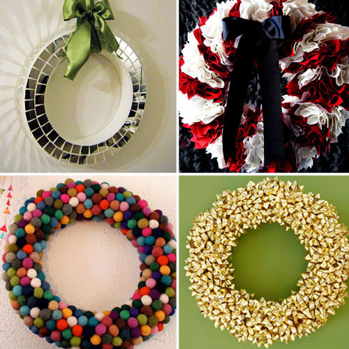 12 non traditional holiday wreath ideas