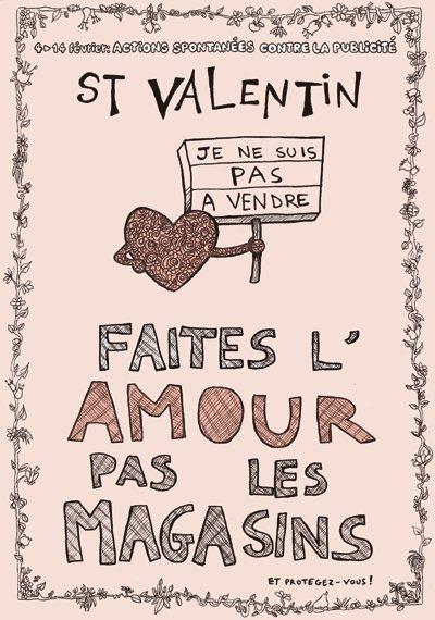 Ma ville propre je m 39 engage saint valentin faites l 39 amour pas les magasins - Quand est la saint valentin ...