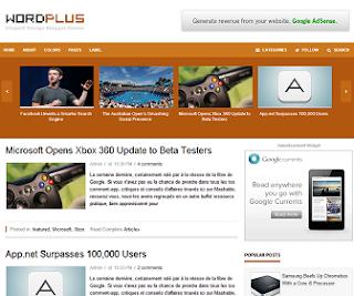 WordPlus Blogger Template