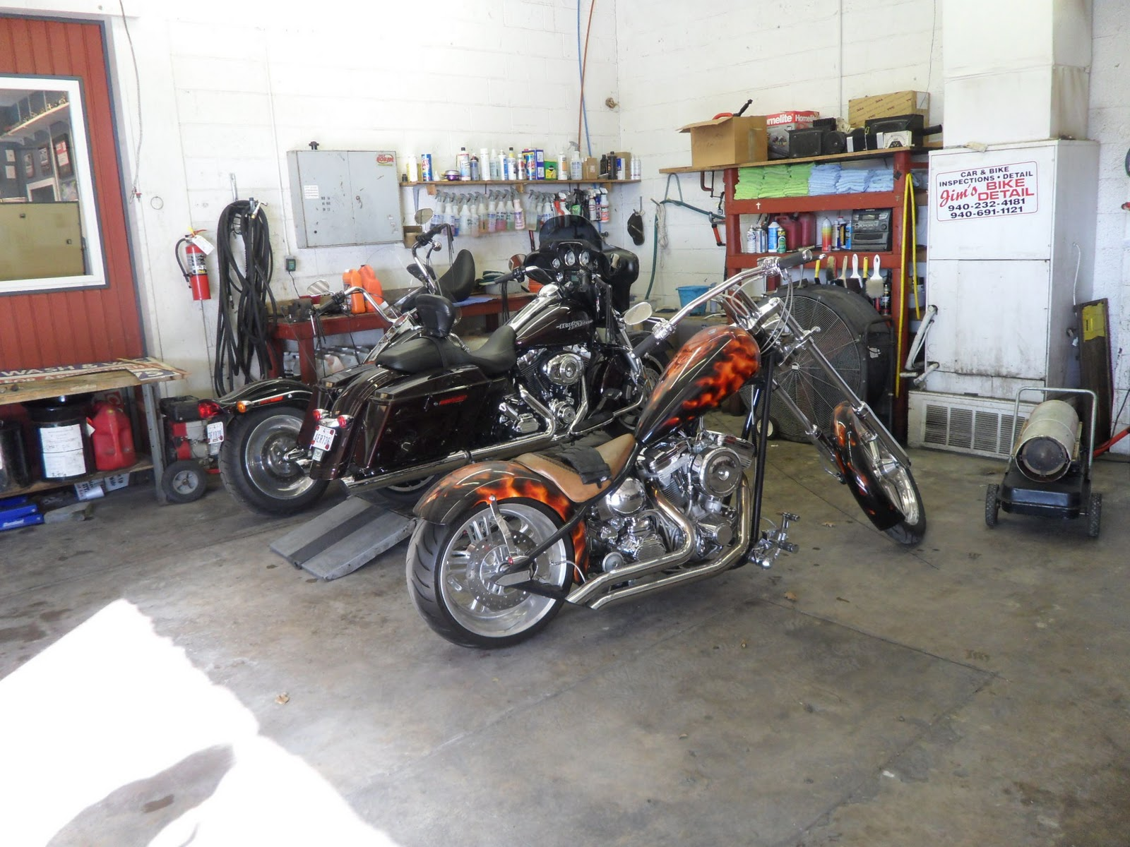 THE FIRST BIKE IS JIM'S 2010 CHOPPER HE WON AT THE ADULT BIKER RALLY IN ...