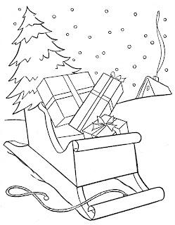 Pinitos de Navidad para colorear