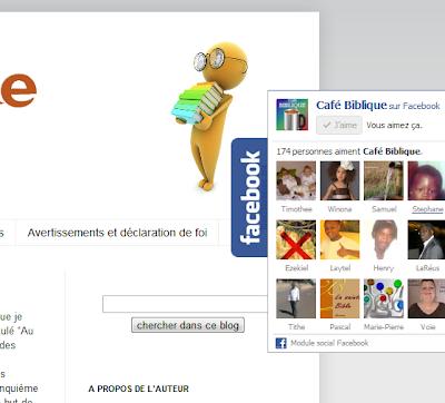 Gadget Fans sur Facebook flottant sur Blogger Blogspot
