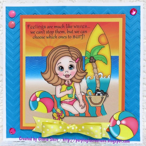 Featured Card at Pile It On Challenge - August 2015