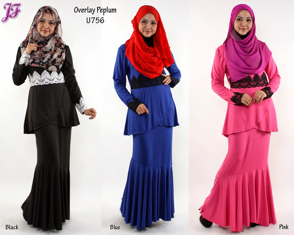 NEW: OVERLAP PEPLUM DRESS U756