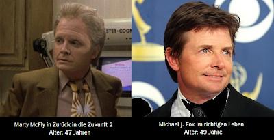 Altersvergleich Marty McFly - Michael J. Fox