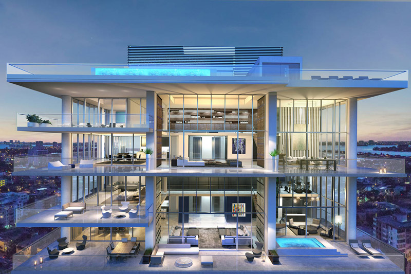 passion for luxury amazing miami beach penthouses with pool