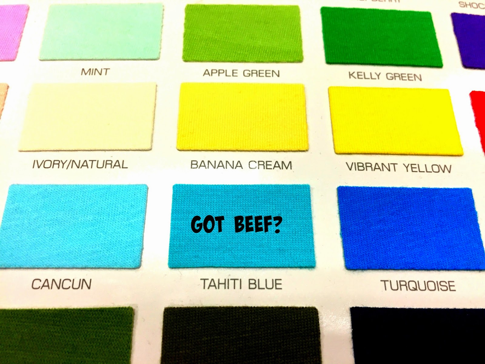 got beef swatches