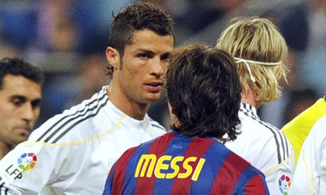 messi vs ronaldo real madrid. Messi vs Ronaldo