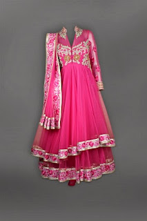 Pink Double Layer Anarkali