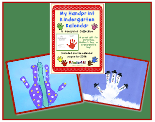 These handprint calendars make great holiday gifts for parents!