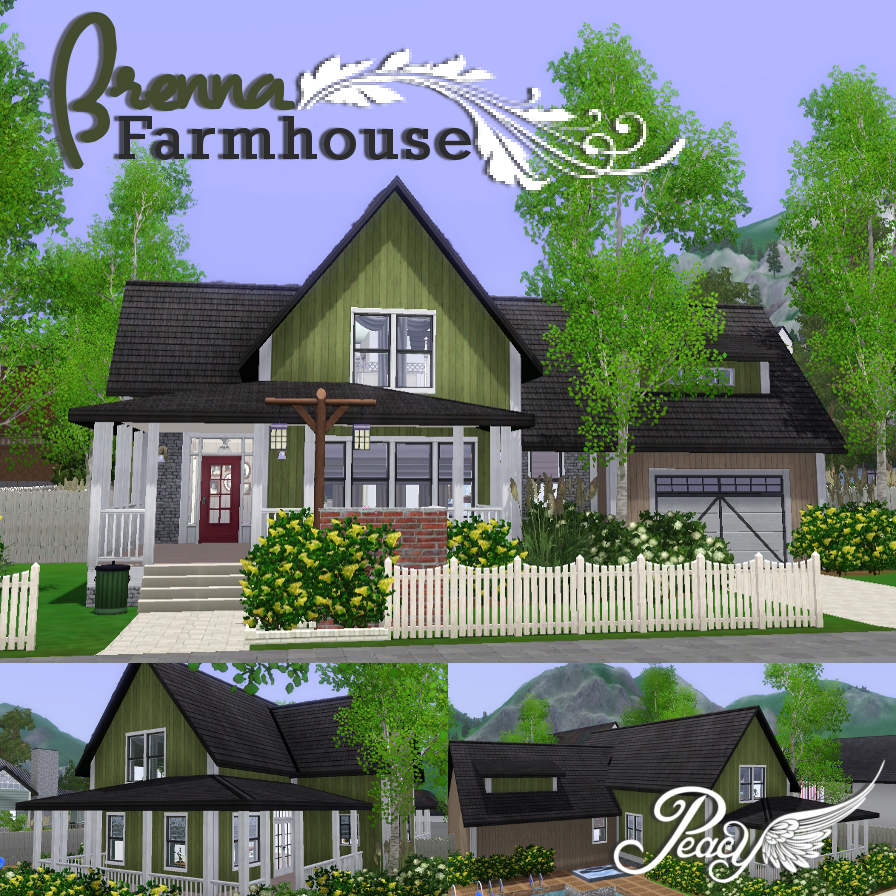 My sims 3 blog brenna farmhouse by peacemaker ic for Country farmhouse blog
