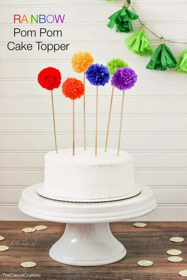 rainbow-pom-pom-cake-topper