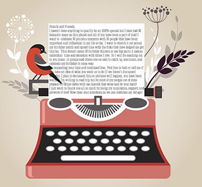 birthday letter with typewriter | Cordier Event Planning