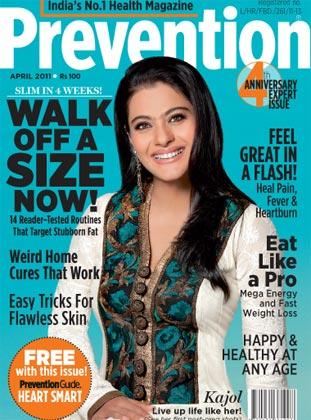 Kajol - Kajol on Prevention Magazine Cover April 2011 Edition