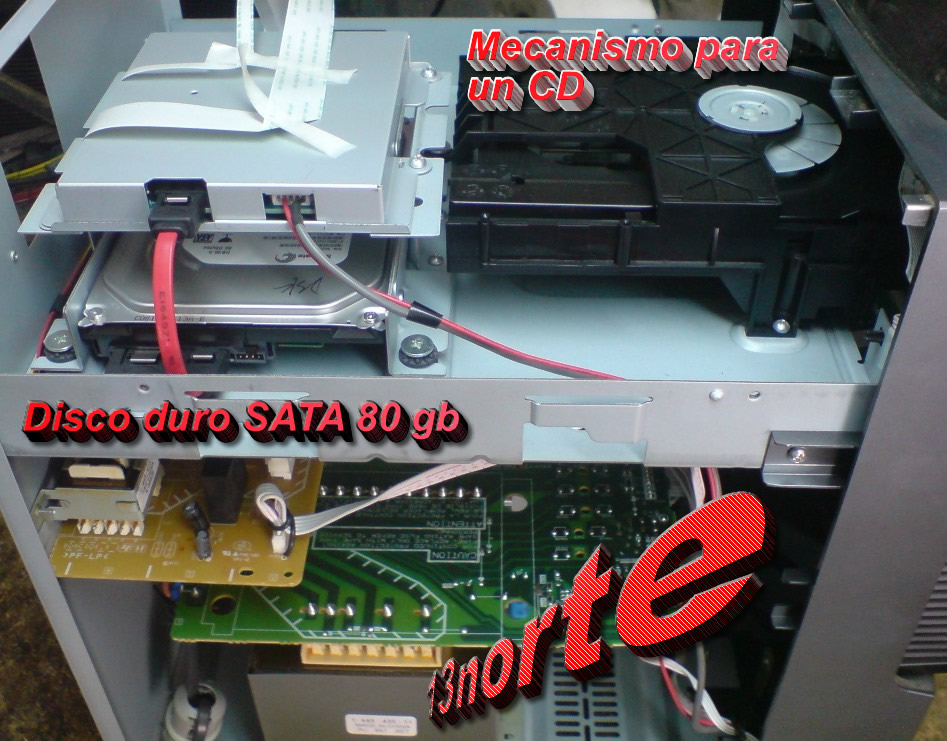 equipo sonido disco duro: