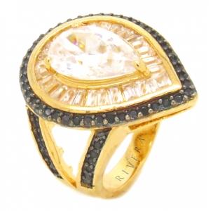 anel dourado e preto festa